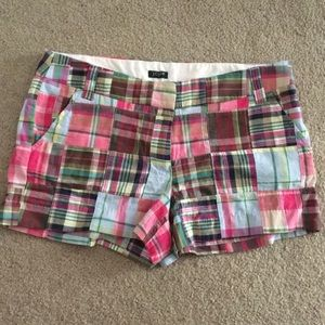 JCREW plaid shorts